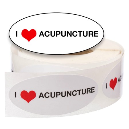 I Love (heart) Acupuncture Stickers